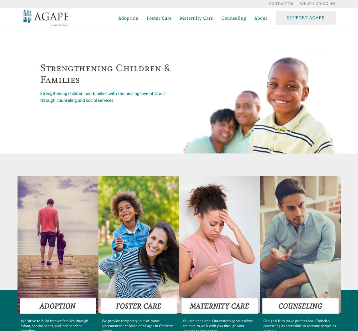Agape - Website Screenshot