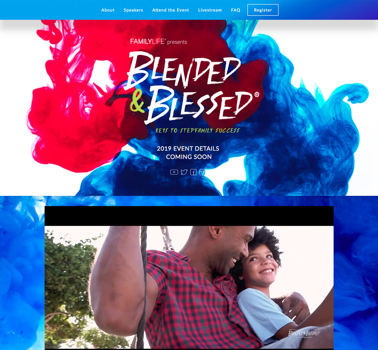 Blended & Blessed Website Screenshot