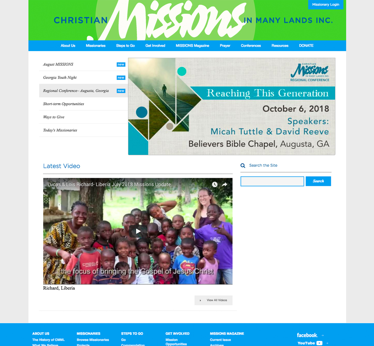 Christian Missions in Many Lands Website