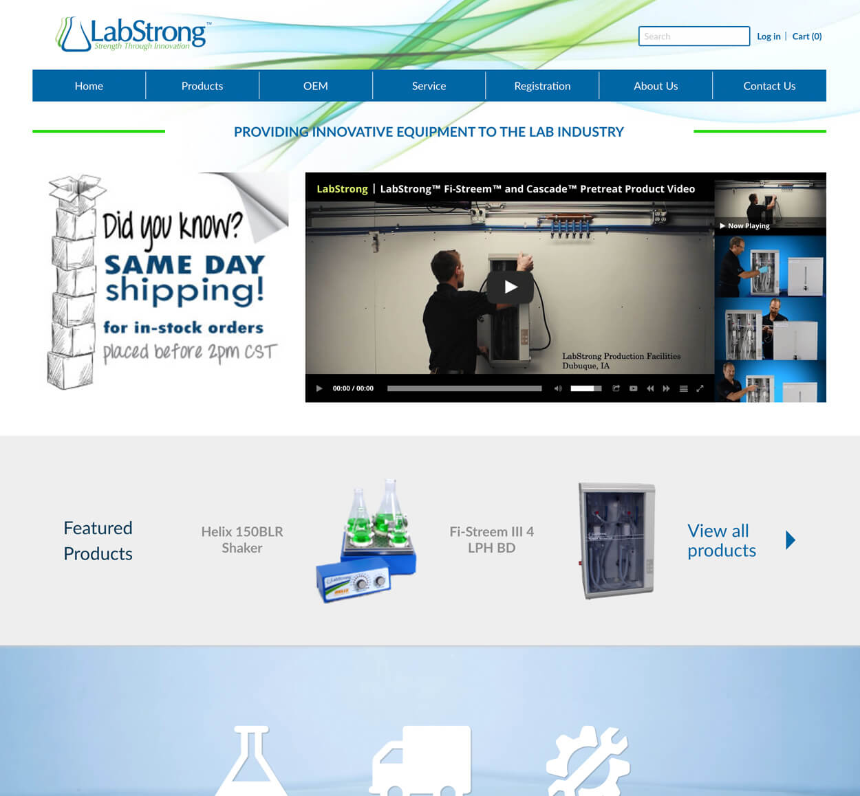 Labstrong Lag Equipment Website screenshot
