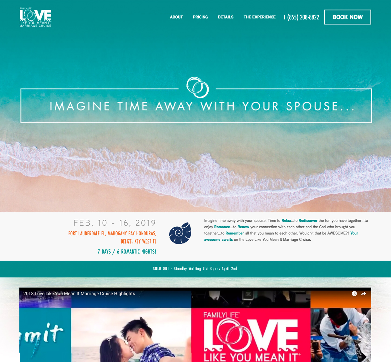 Love Like You Mean It website screenshot