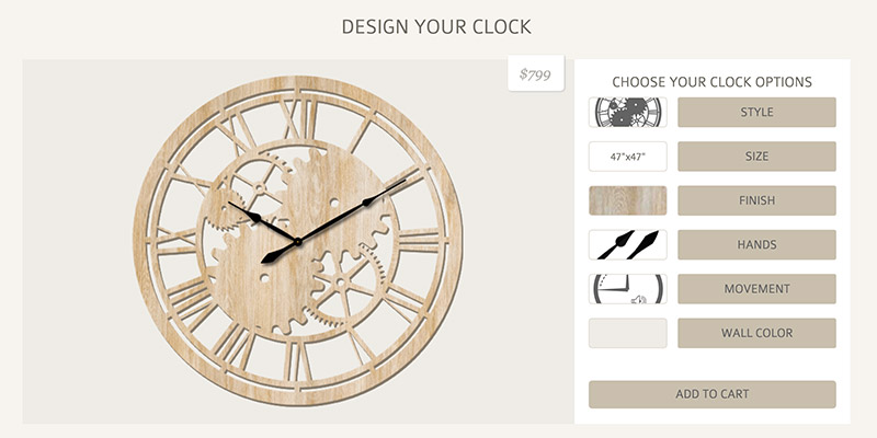 Custom Clock Designer App