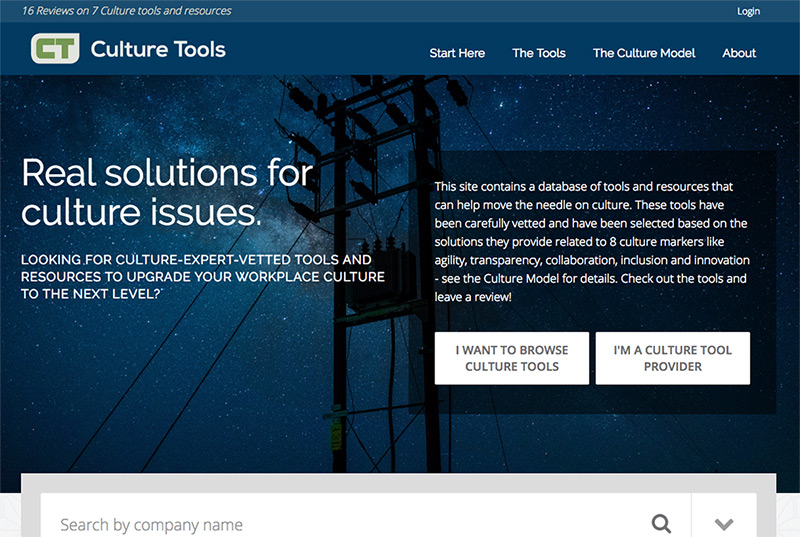 Culture Tools  - Review Platform Website Detail