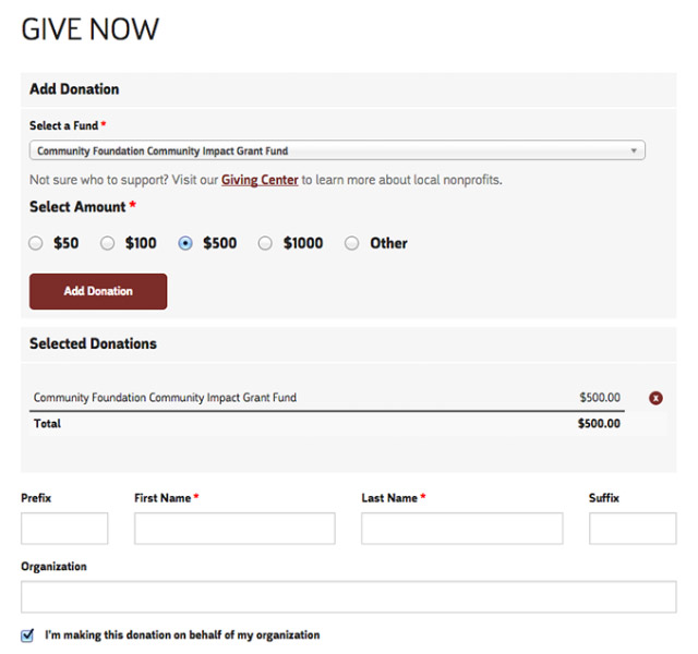 Custom Drupal Donation Form