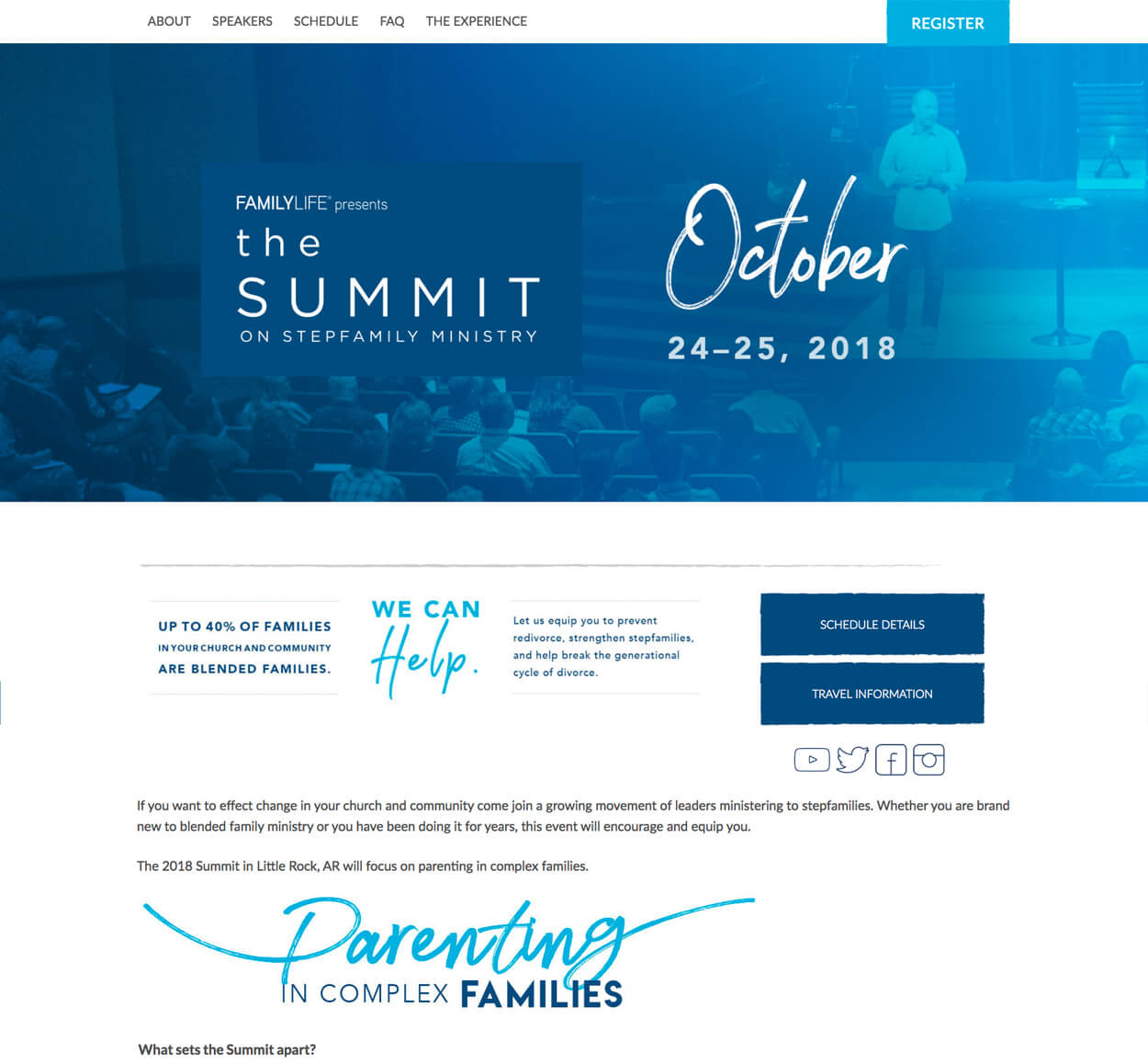 Summit On Step Family Ministries Website Screenshot
